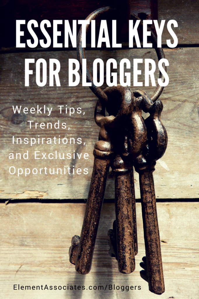 Blogging Elements - Weekly tips and opportunities emails for all bloggers!