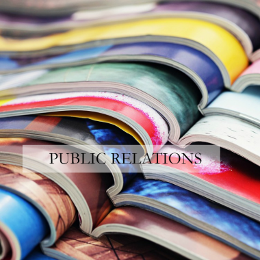 Public Relations for traditional PR to magazines and television shows